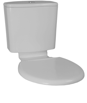 Plaza Vitreous China Cistern Seat and Link