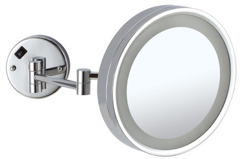 Shave and Make Up Mirror With Light - Round