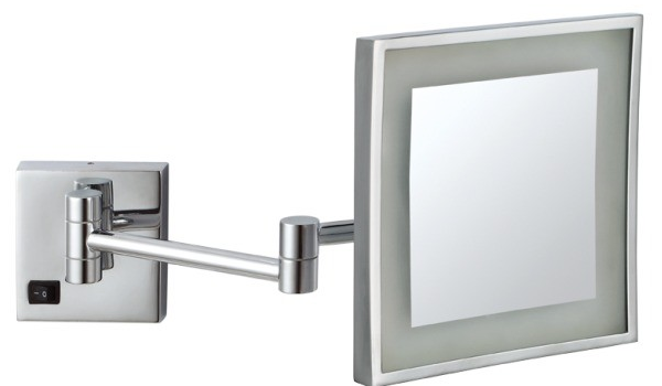 Ablaze Shave and Make Up Mirror - Square