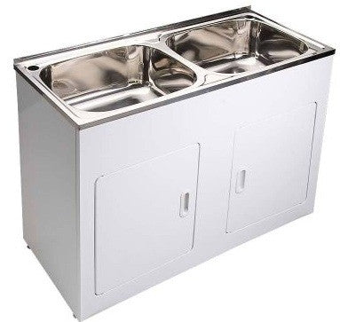 Laundry Tub Stainless Double