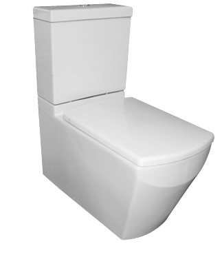 Tetragon Close Coupled Flush To Wall Toilet Suite