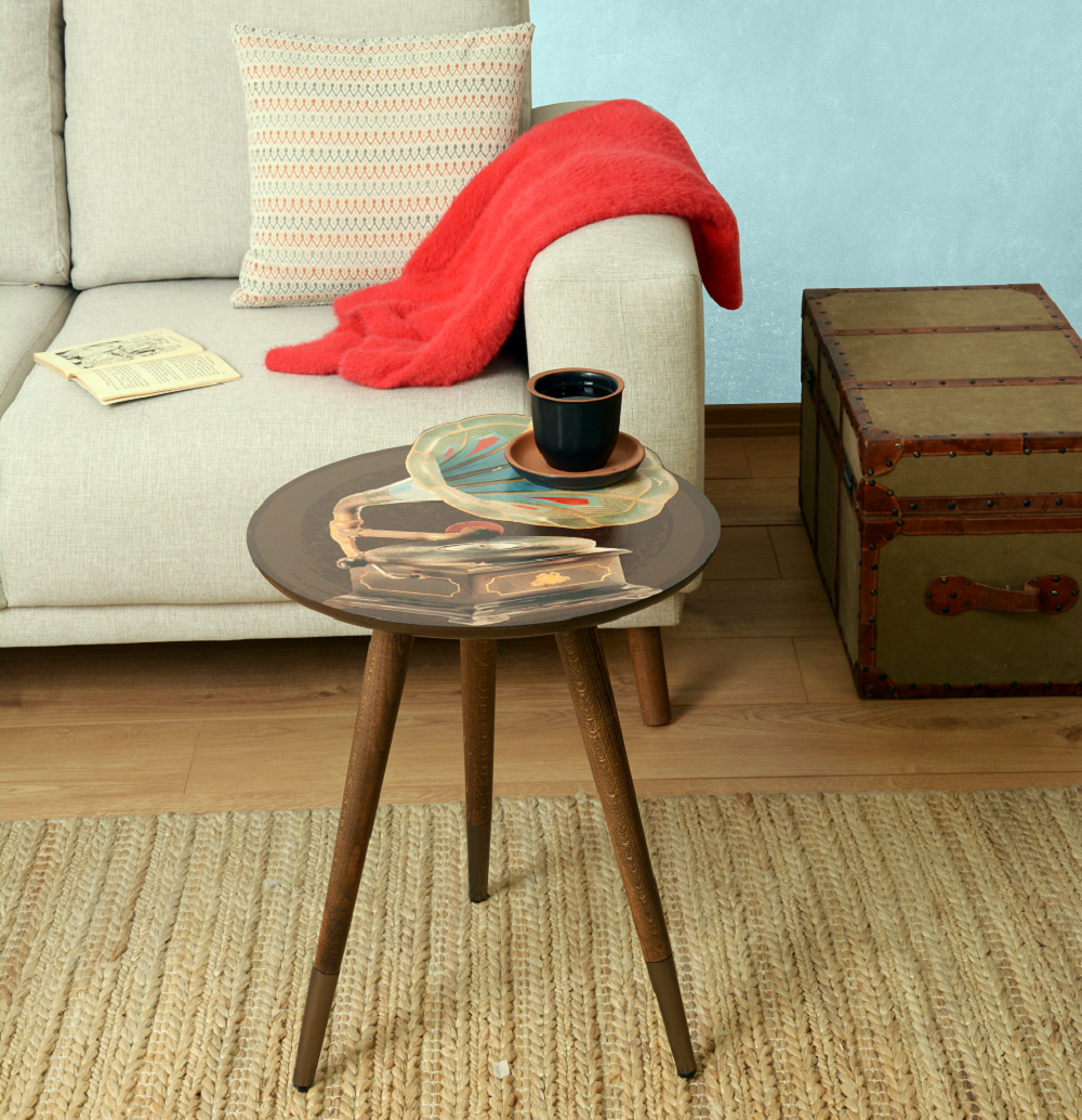 """Gramophone"" Theme  Modern Design Wooden  Side Table - Coffee Table - casaculina - casaculina"