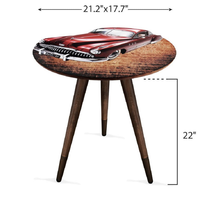 American Red 49 Buick Design Modern Wooden Coffee Table - Coffee Table - casaculina - casaculina
