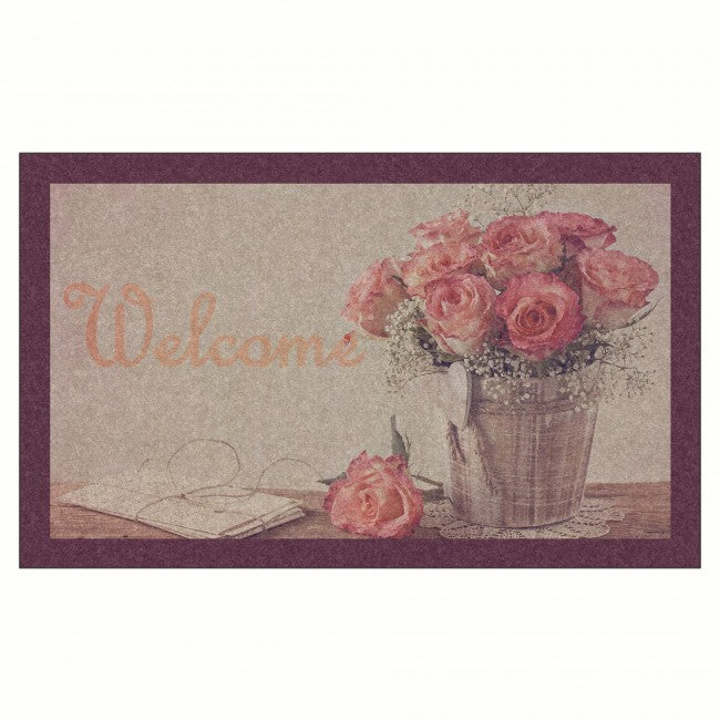 45x75 cm Rose Pictures Print Anti Slip Door Mat - Home Decor - casaculina - casaculina