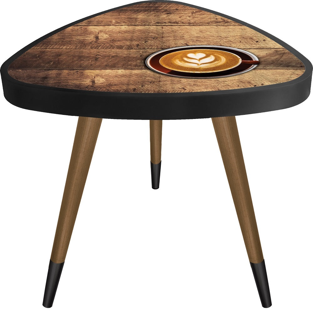Cappucinno Cup Theme Wooden  Triangle Coffe Table - Coffee Table - casaculina - casaculina