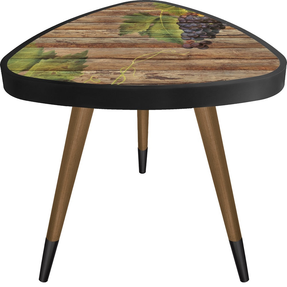 Grape Theme Modern DesignTriangle Wooden Side Table - Coffee Table - casaculina - casaculina