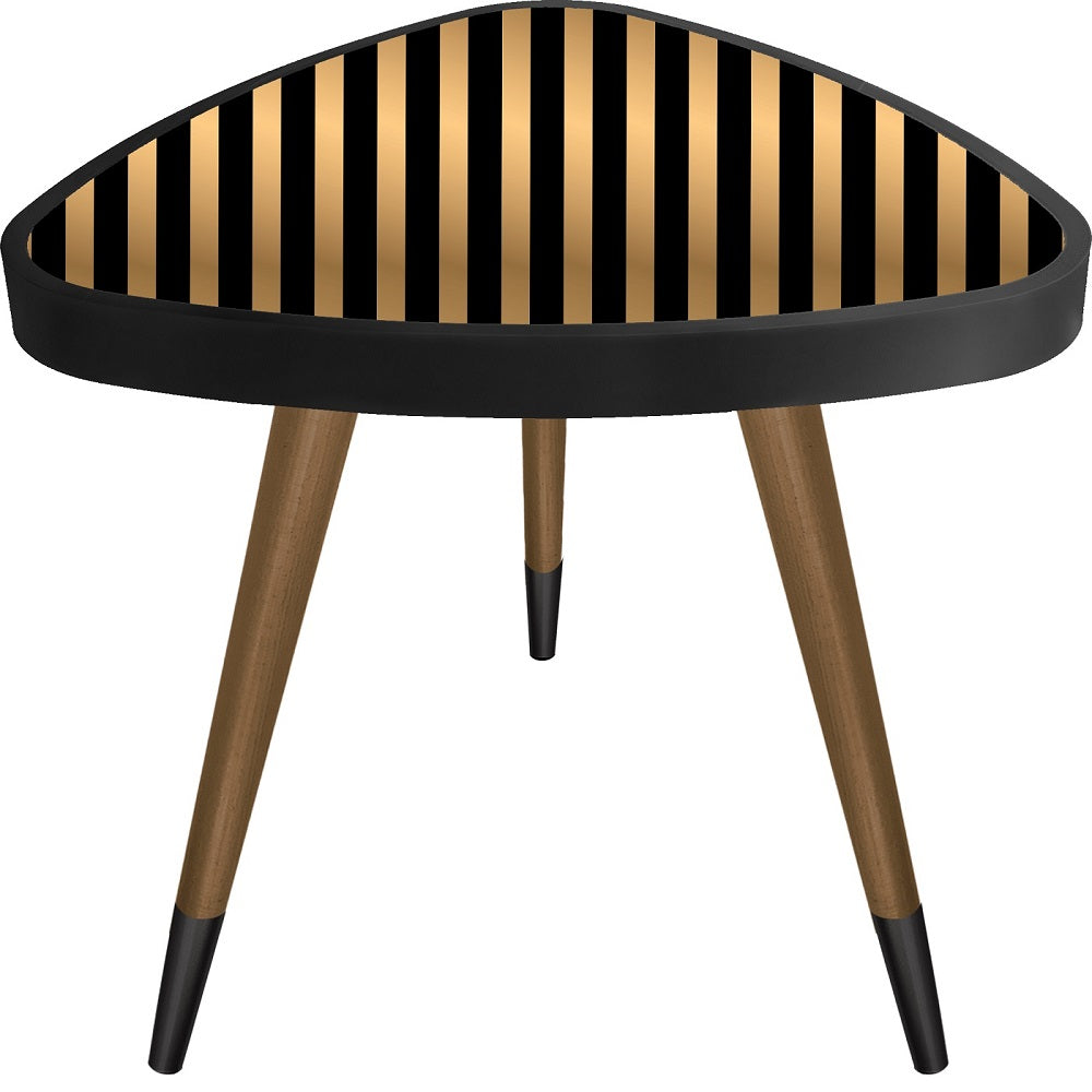 Striped Theme Modern Design Triangle Wooden Side Table - Coffee Table - casaculina - casaculina