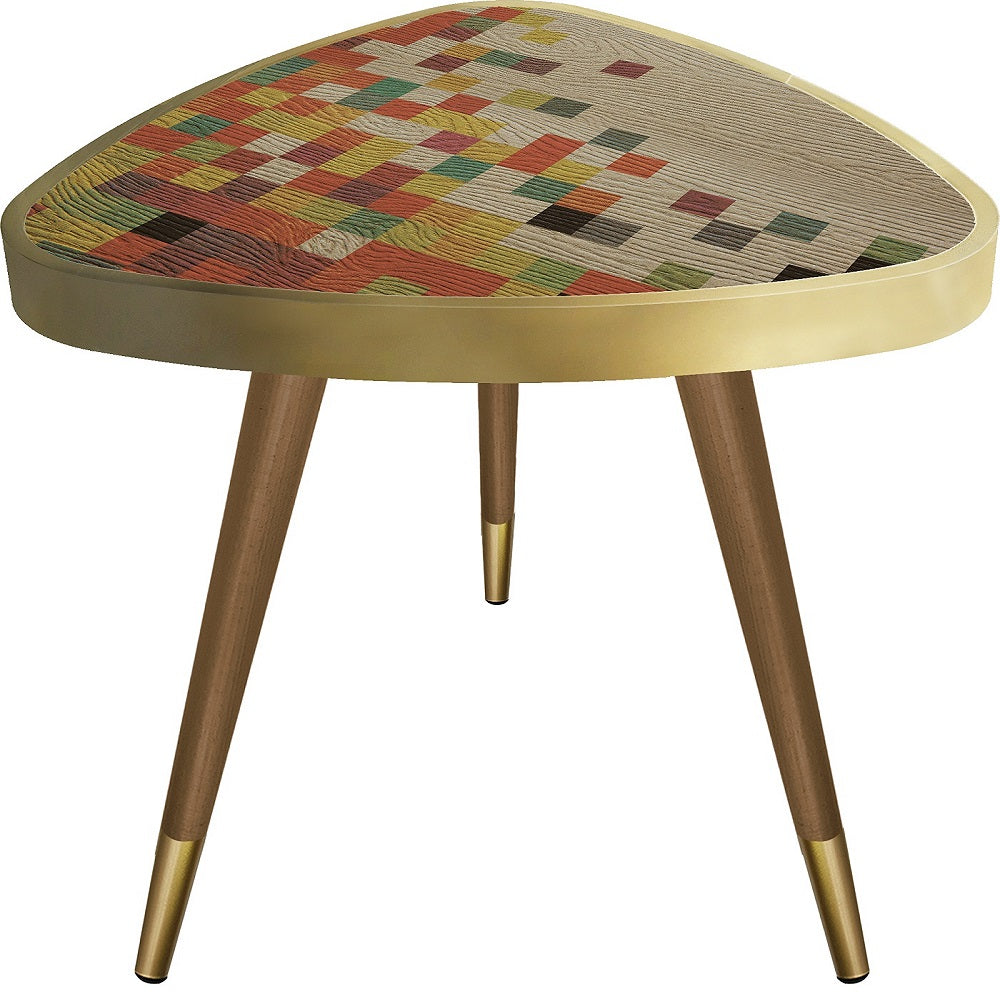 Colorfull Cubes Theme  Triangle Wooden Side Table - Coffee Table - casaculina - casaculina