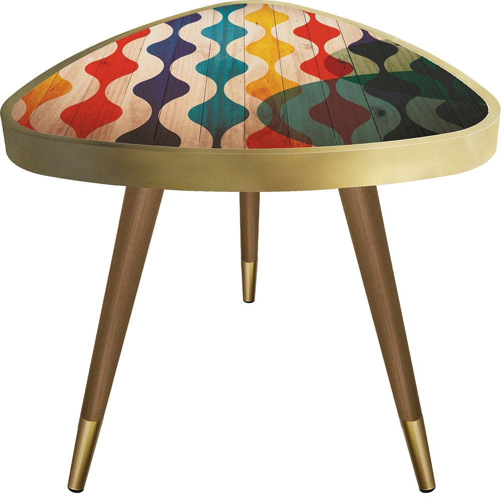 Colorfull Triangle Wooden Side Table - Coffee Table - casaculina - casaculina