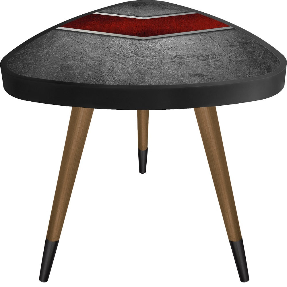 Red Belt Theme Modern Design Stylish Triangle Wooden Side Table - Coffee Table - casaculina - casaculina