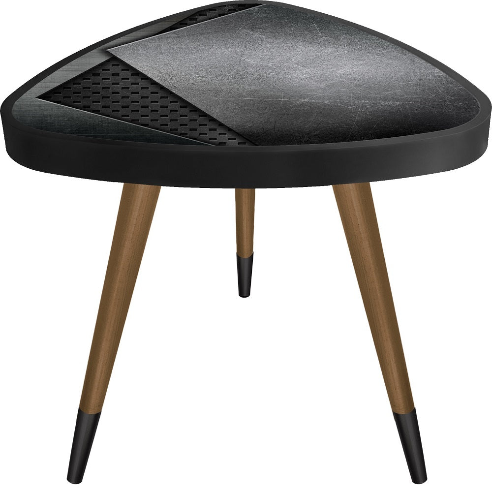 """Black Leather"" Theme Modern Design Triangle Wooden Side Table - Coffee Table - casaculina - casaculina"