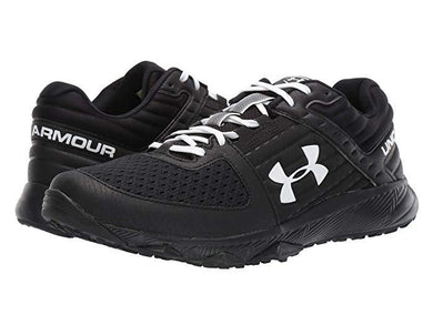 Under Armour Yard Trainer Black/Black/White Field Shoe