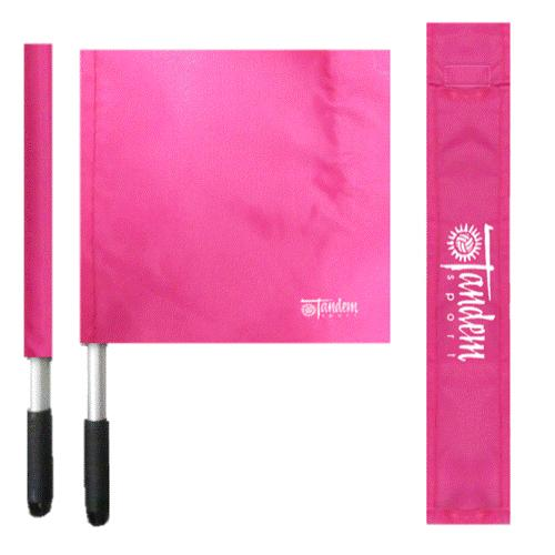 Tandem Deluxe Pink Volleyball Flags