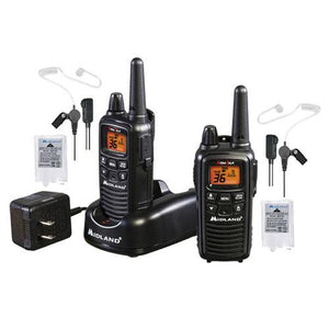 Set of 2 Midland Radios with Transparent Security Headsets