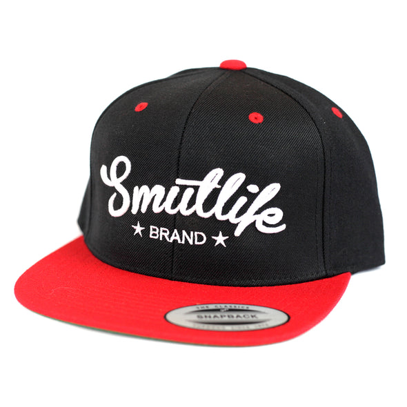 Classic Red & Black Smutlife Tri-Star Snapback Baseball Hat