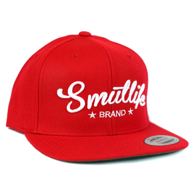 Classic Red Smutlife Tri-Star Snapback Baseball Hat
