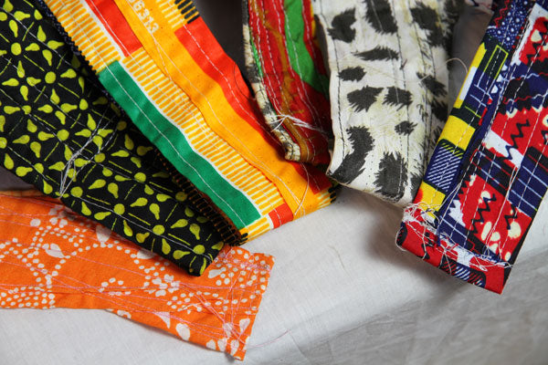 African Print Djembe Straps (Various)