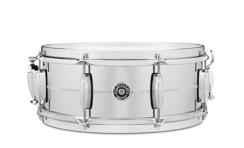 Gretsch Chrome Over Steel Snare Drums