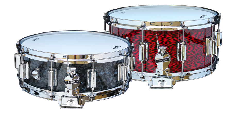"Rogers Dyna-Sonic ""Beaver-Tail"" Snare Drums"