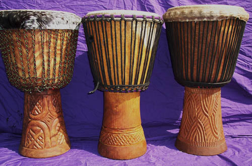 Hare/Balafon (left), Iroko (center), Demba/Duki (right)