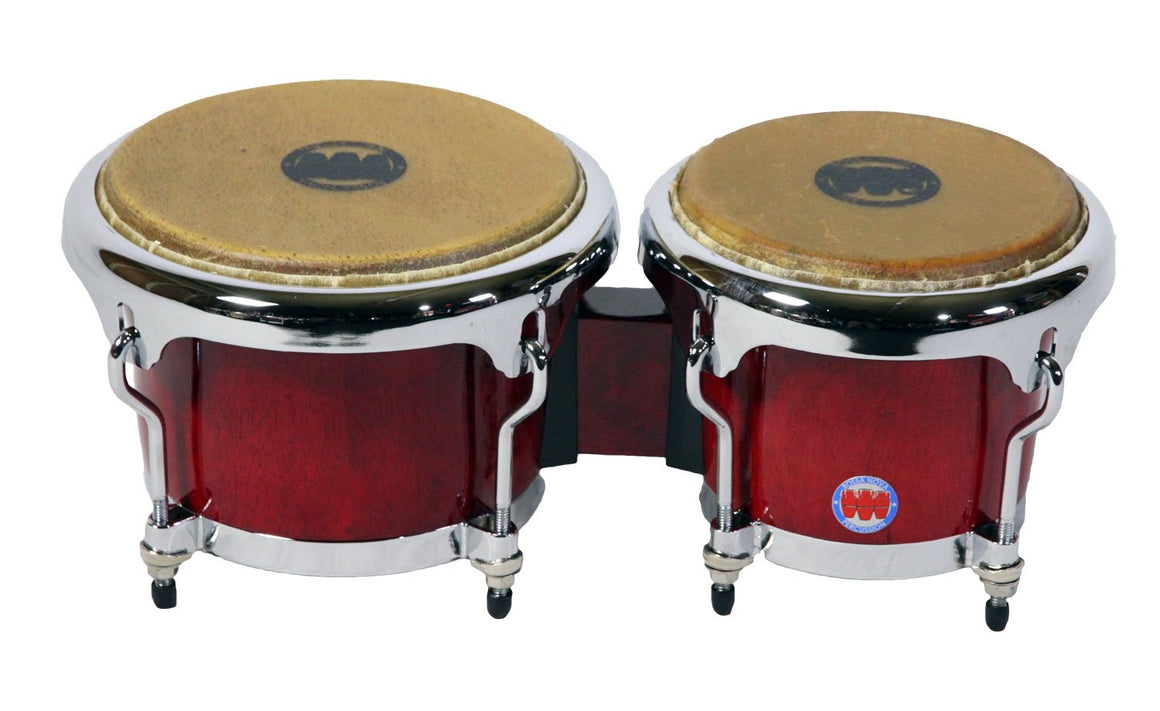 Mambo Series Bongos in Wine Red Finish
