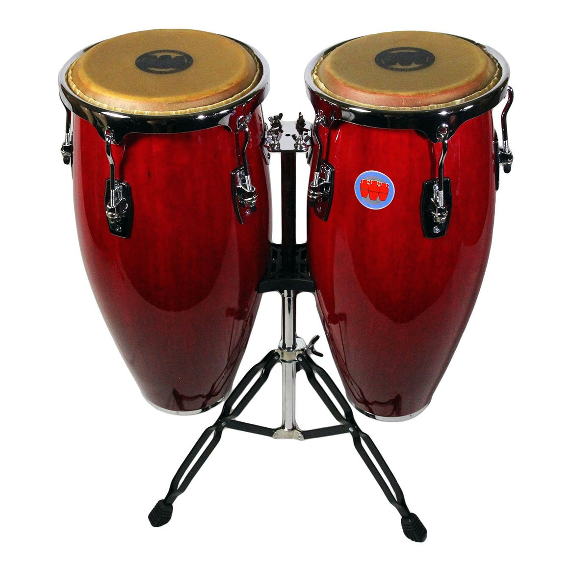 Mambo Series Congas in Wine Red Finish