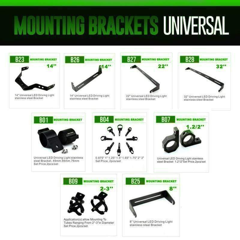 colorwerkz Off Road Lighting Universal Brackets