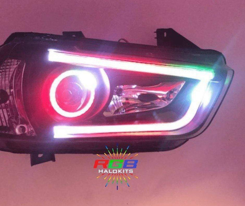 RgbHaloKits Pre-Built Headlights 2011-2014 Dodge Charger Prebuilt Headlights
