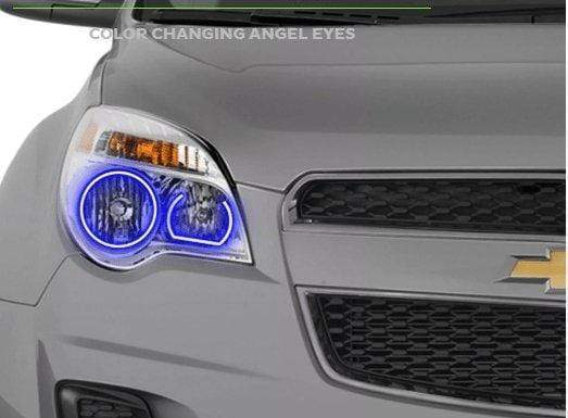 Theretrofitsource Halo Kits CHEVROLET EQUINOX (10-15): PROFILE PRISM FITTED HALOS (RGB)