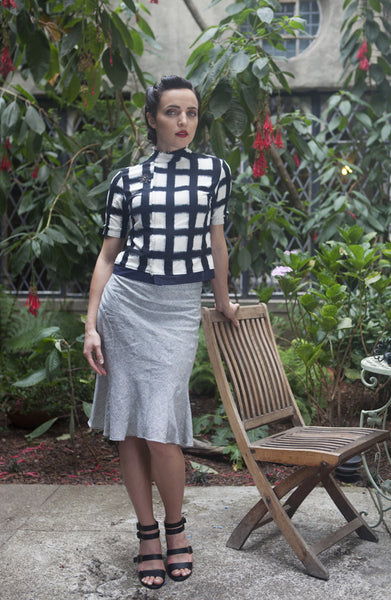 Cascade Skirt in Organic Cotton/Hemp Stripe
