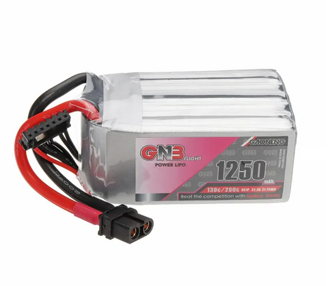 GNB 6S 22.2V 1250MAH 130C (not 120C) LIPO BATTERY (a truly stellar pack)