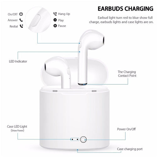 Wireless Bluetooth EarPods With Charging Box (iPhone and Android)