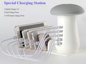 Fast Charging Multi-Port Dock & Lamp (5 PORTS)