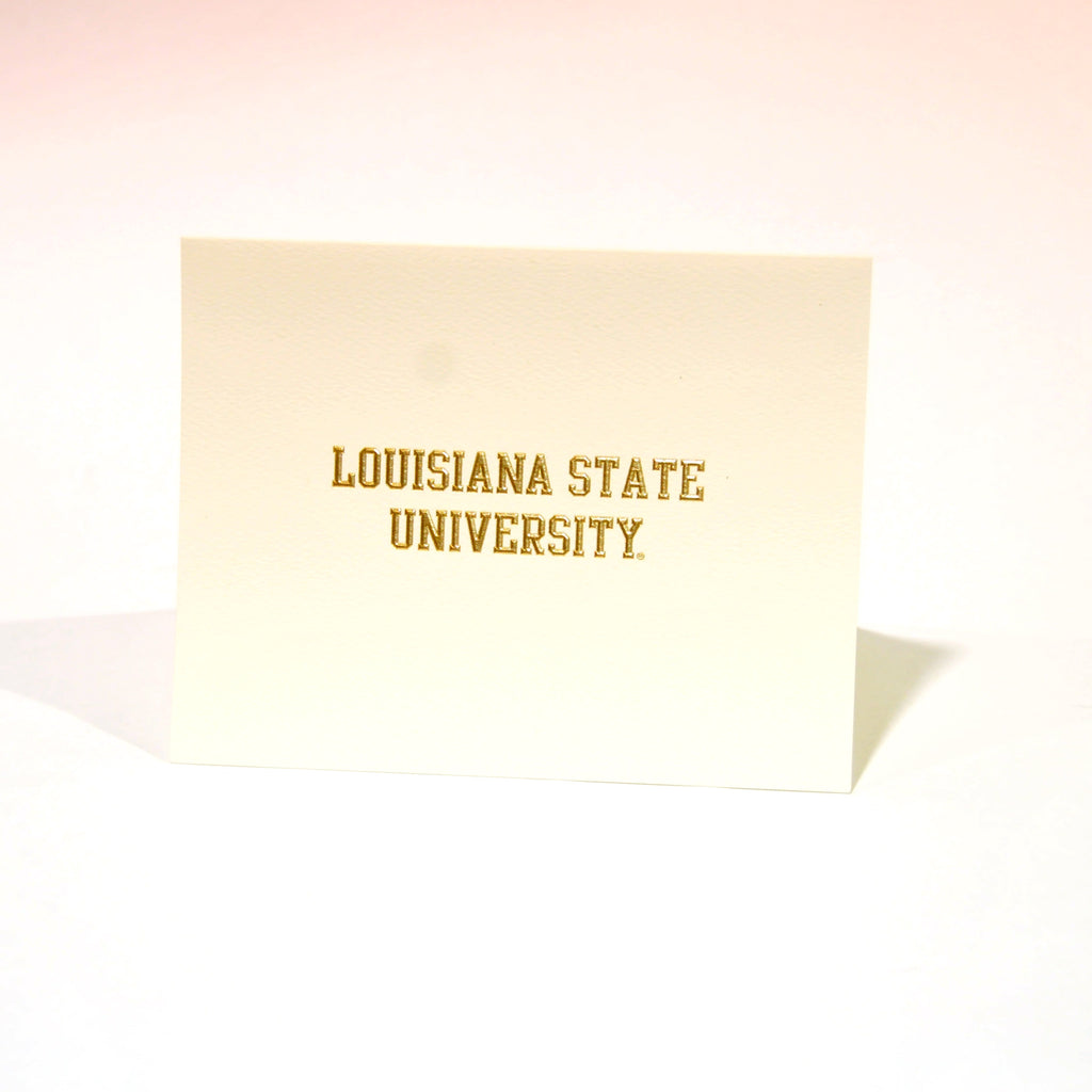 LSU Embossed Notecards in Baton Rouge LA - Tiger People Clothiers