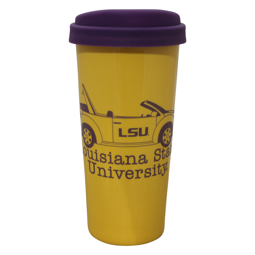 LSU Austin Travel Tumbler- Gold | Travel Mugs | Tiger People Clothiers