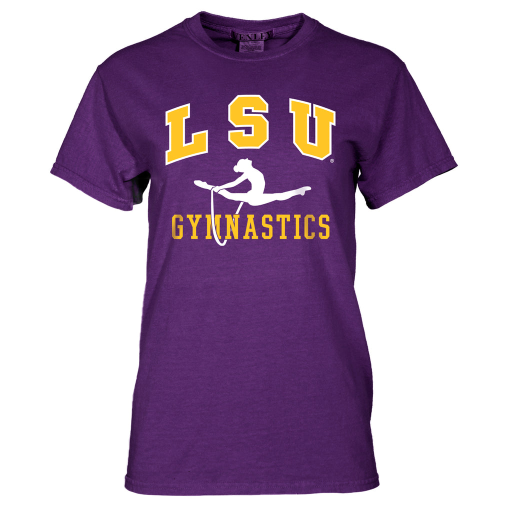 LSU Tigers Basic Gymnastics Tee-ss tees-Venley-Tiger People Clothiers