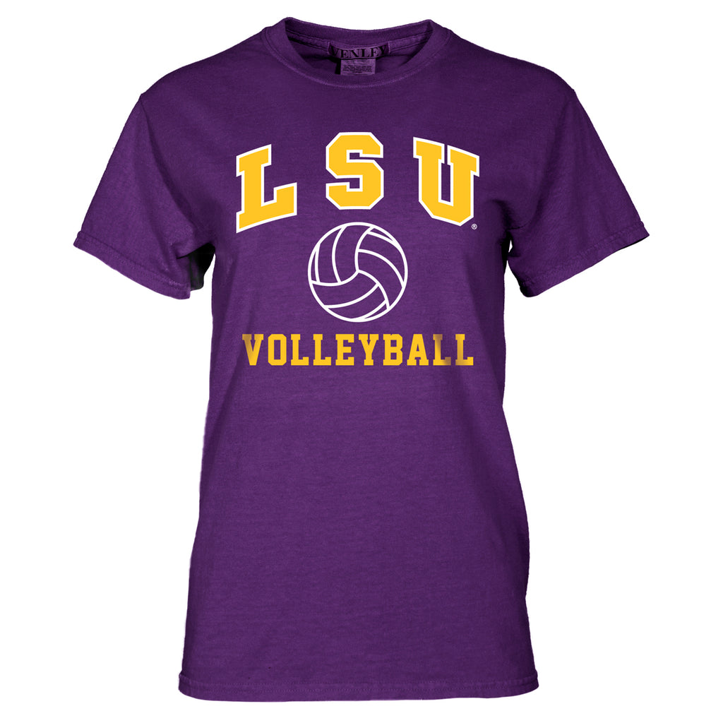 LSU Tigers Basic Volleyball Tee | SS Tees | Tiger People Clothiers
