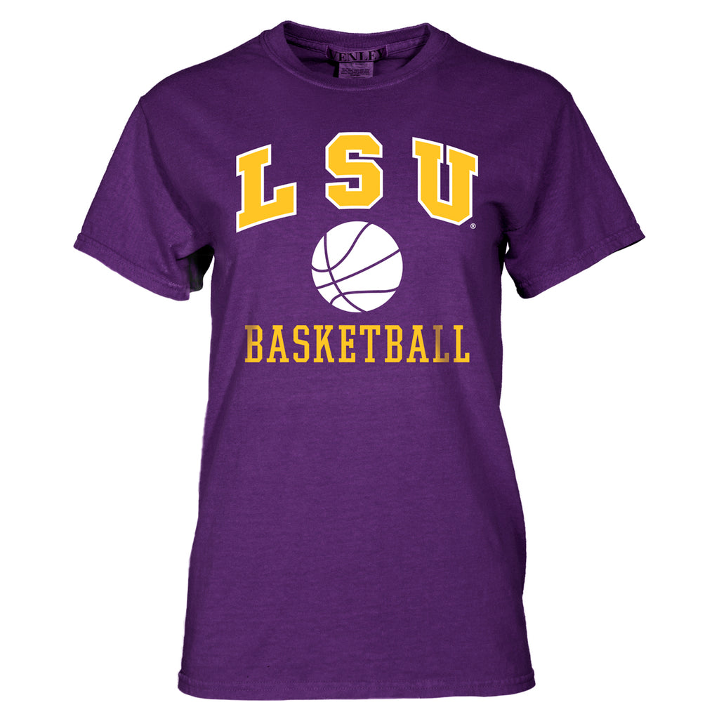 LSU Tigers Basic Basketball Tee | ss tees | Tiger People Clothiers