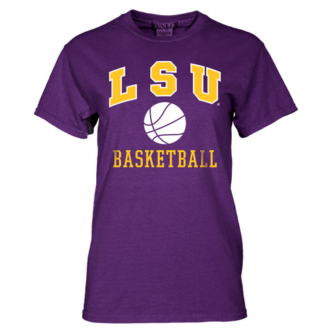 LSU Tigers Basic Basketball Tee