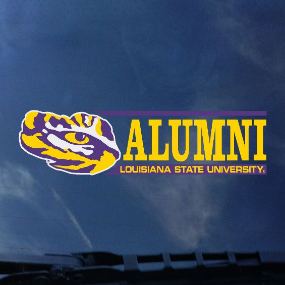 LSU Alumni Auto Decal- Bar Design-decals-CDI-Tiger People Clothiers