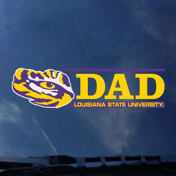 LSU Dad Auto Decal- Bar Design-decals-CDI-Tiger People Clothiers