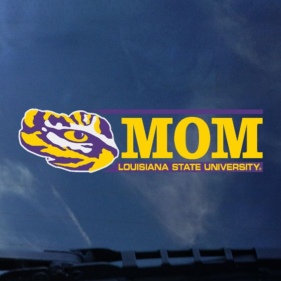 LSU Mom Auto Decal- Bar Design-decals-CDI-Tiger People Clothiers