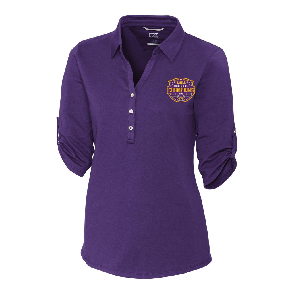 LSU Tigers National Champ Ladies Polo | polos | Tiger People Clothiers