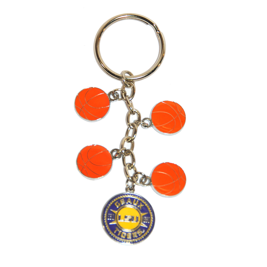 LSU Charm Dangle Keychain-Key Chains-R&D-Tiger People Clothiers