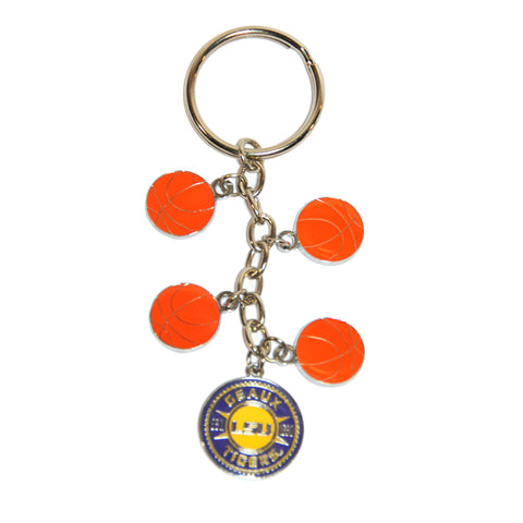 LSU Charm Dangle Keychain