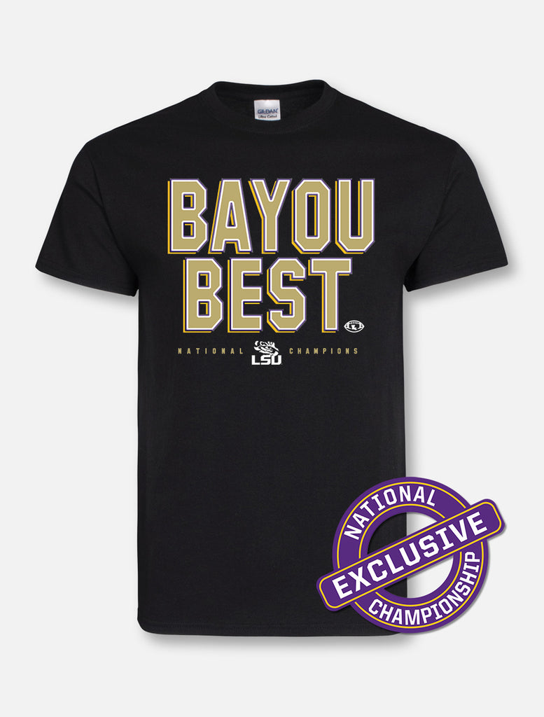 LSU Tigers National Champ Bayou Best Tee | Short Sleeve Tees | Tiger People Clothiers