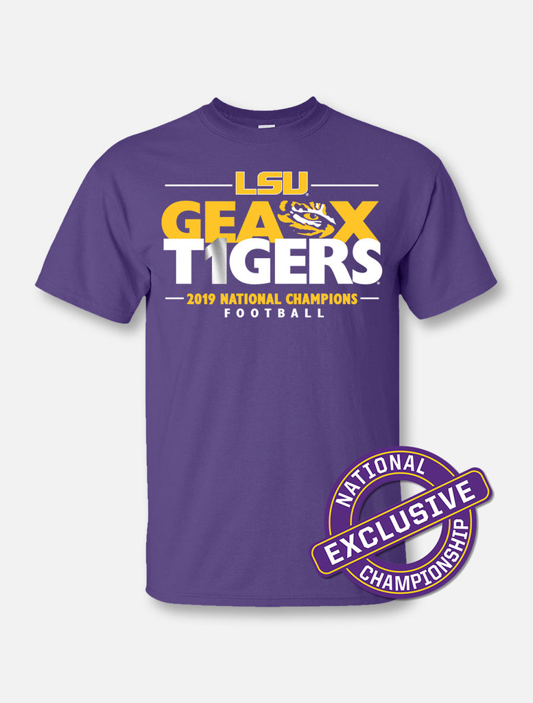 LSU Tigers National Champ Geaux#1 Tee | t-shirt | Tiger People Clothiers