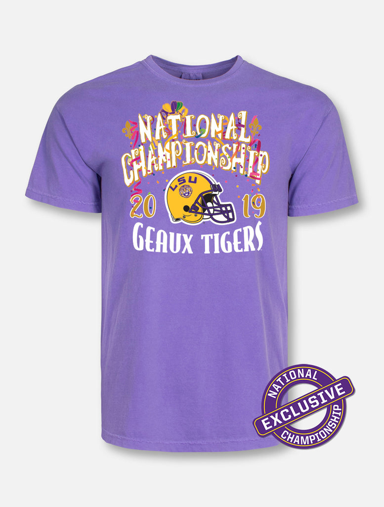 LSU Tigers National Champ Confetti Comfort Color Tee | t-shirt | Tiger People Clothiers