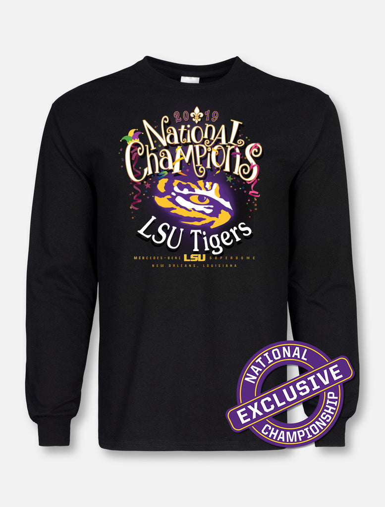 LSU Tigers National Champ Mardi Gras Mambo Tee | t-shirt | Tiger People Clothiers