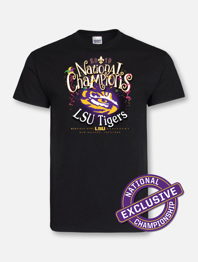 LSU Tigers Mardi Gras Mambo SS Tee | Short Sleeve Tees | Tiger People Clothiers